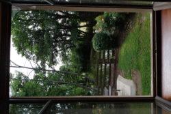 Vu coté étang du Studio hotel du moulin de la brevette